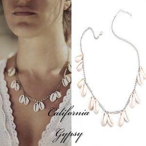 Bohemian festival gypsy conch shell necklace 🐚